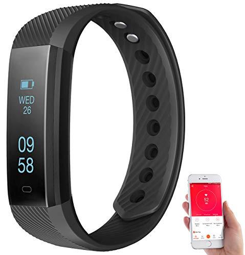 Newgen Medicals Pulsuhr ohne Brustgurt: Fitness-Armband m. Bluetooth, Benachrichtigung, Pulsmesser, OLED, IP67 (Pulsarmband)