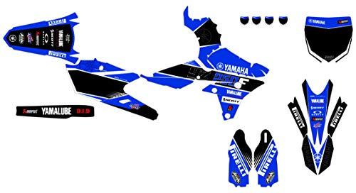 KIT Deco Motocross Yamaha YZF 250 2014-2018 Race Bleu