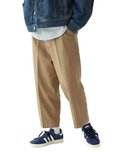 (ビームス)BEAMS/カジュアルパンツ ワイド クロップドパンツ メンズ BEIGE S