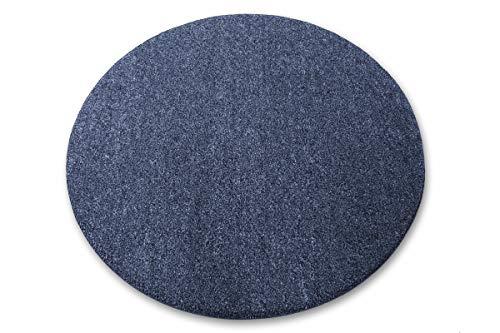 Deko-Matten-Shop Fußmatte Olefin, Schmutzfangmatte, rund, 30 cm Durchmesser, blau, in 15 Größen und 5 Farben