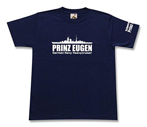 ギガント 重巡 プリンツオイゲン Tシャツ ネイビー Mサイズ