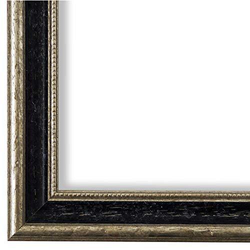 Online Galerie Bingold Bilderrahmen Schwarz Silber 15 x 20 cm 15x20 - Antik, Barock, Vintage - Alle Größen - handgefertigt - WRF - Livorno
