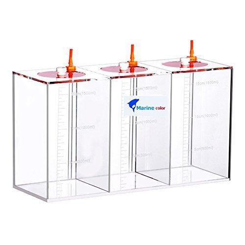 MarinecolorÃ'® Acryli gemaakt vloeibare opslag emmer 3 kamers 4,5 liter, werken met doseerpomp door Marinecolor