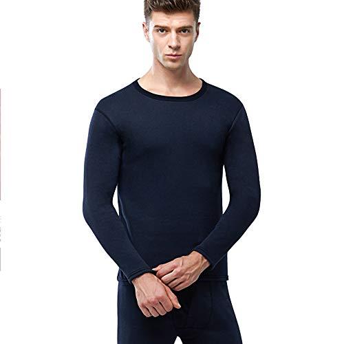 ZHOUZJ Ropa Interior térmica Hombre, Conjuntos térmicos, Camiseta Térmica Hombres Manga Larga Pantalones Largos para Deportes al Aire Libre,Azul,L
