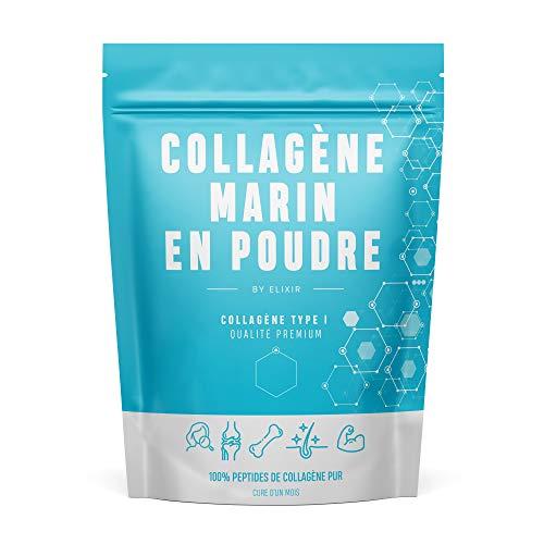 BY ELIXIR x PEPTAN, Peptide de Collagène Marin Pur Hydrolysé de Type 1. Pour la Peau, les Cheveux, les Articulations, en Musculation - 310g - Cure dun Mois - Produit Breveté - Elaboré en France