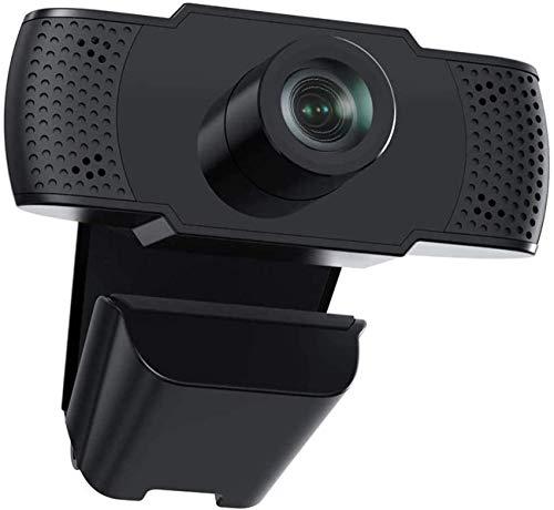 Webcam con micrófono, cámara web HD 1080p, cámara web para enseñanza en línea/reunión de negocios, conectar y usar cámara frontal con enfoque automático para PC de escritorio portátil