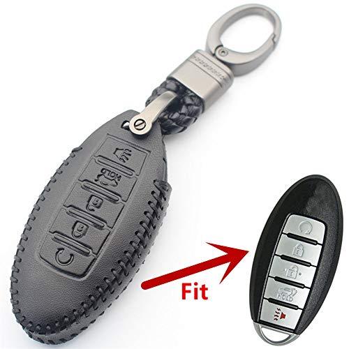 MISDHLeder 5Button Keyless Entry Smart Key Case Abdeckung, Für Nissan...