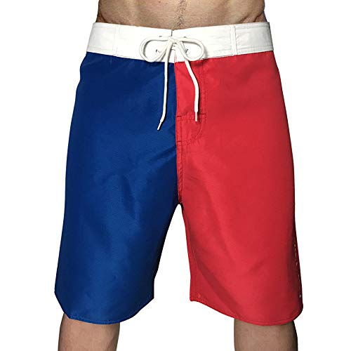Home's – Pantalones cortos de running para hombre – Pantalones cortos de ciclismo de jogging para entrenamiento en gimnasio transpirables ultraligeros con bolsillo rojo 28