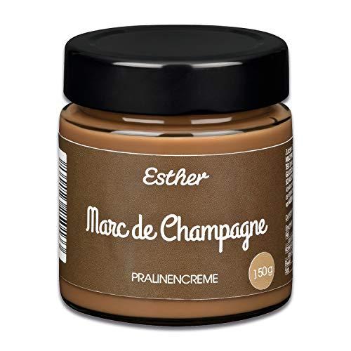 Esther Pralinencreme - Marc de Champagne 150g süße Trüffel Creme mit Alkohol | Genuss für alle Champagner Liebhaber als Brotaufstrich, Naschen, Genießen oder als Geschenkidee