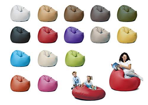 sunnypillow XL Sitzsack mit Füllung 100 cm Durchmesser 2-in-1 Funktionen zum Sitzen und Liegen Outdoor & Indoor für Kinder & Erwachsene viele Farben und Größen zur Auswahl Rot