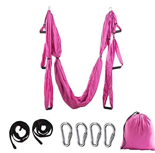 FCGAO Juego De Columpio para Yoga Aéreo, Kit De Yoga Trapecio Volador, Herramienta De Inversión De Eslinga De Yoga Aérea con 2 Correas De Extensión para Ejercicios De Inversión De Yoga Aéreo