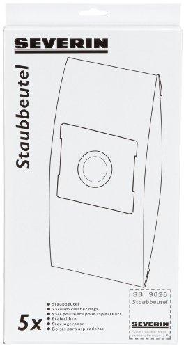 Severin SB 9026 Boîte avec 5 sacs d'aspirateur, 1 filtre de sortie et 1 filtre moteur pour BR 7935, BR 7945