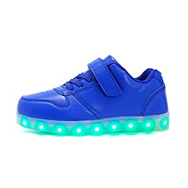 Cliont-Zapatillas-7-Colors-USB-Carga-LED-Luz-Luminosas-Flash-Zapatos-de-Deporte-para-Mujeres-Blanco-para-Nios-Adolescentes-Nias-Adolescentes