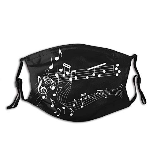 Música Notas Mascarilla Bufanda para hombres y mujeres adultos,...