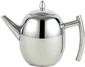 GenericBrands Czajnik oliwkowy garnek srebrne lustro gruby dzbanek do herbaty ze stali nierdzewnej 304 z filtrem hotel re...