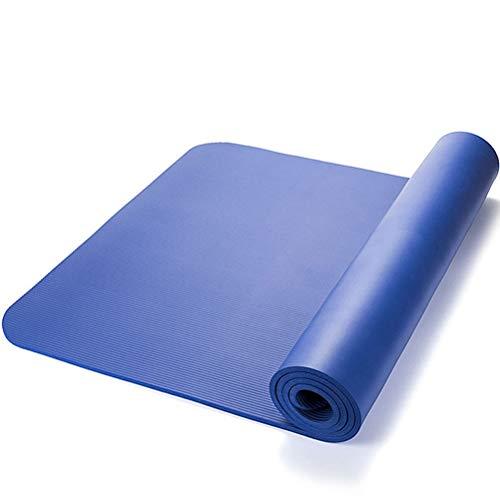 Yoga mats Yoga TPE Material de Esterilla Gruesa Aptitud Colchoneta de Ejercicio con Easy-Cinch Yoga Mat Carrier Correa (Color : Azul, tamaño : 10mm)