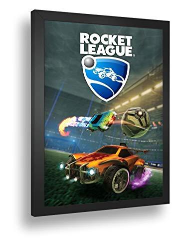 Quadro Decorativo Poste Rocket League Corrida Futebol