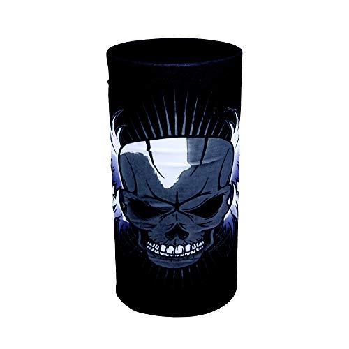 ZaPro HD Druck Premium - Multifunktionstuch - Verschiedene Designs Bedrucktes Halstuch Motorrad Sommer Frühling Totenkopf Skull Fastnacht Bunt Maske Joker Buff Tuch Venom (Bad Angel)