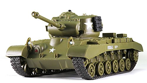 Remote Control 2.4Ghz 1/30 Scale US M26 Pershing RC IR Battle Tank w/Sound Lights