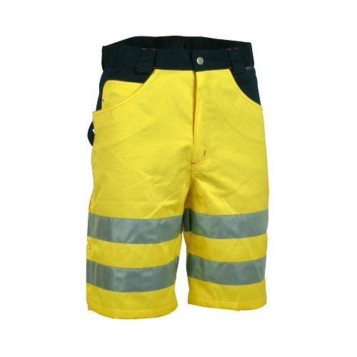 COFRA Cofra S.r.l. 40-00V07401 Cofra Warnschutz Shorts VISIBLE V074 kurze Arbeitshose in Signalfarbe gelb Gr. 56, YELLOW/MARINE