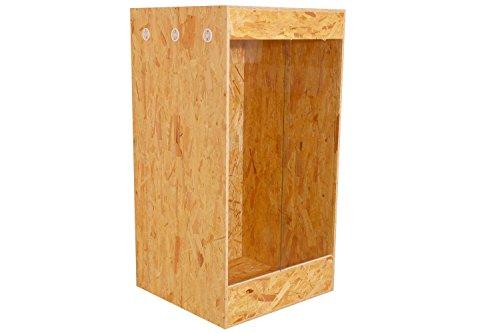 Happy-Echse OSB Terrarium, Holz Terrarium, Hoch-Terrarium, Seitenbelüftung, 60x120x60
