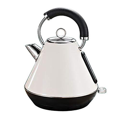 XYY Quiet Boil Wasserkocher, Wasserkocher, 1,8 L gebürstetem Edelstahl Kessel Temperaturregelung Elektrische Wasserkocher Silikon Griff Auto-Off & Trockengehschutz (Color : Milk White)