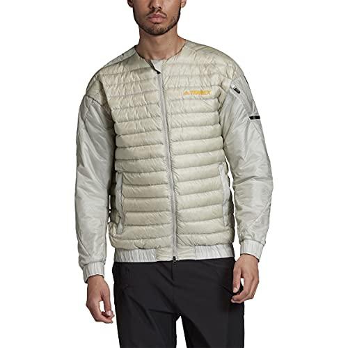 adidas Men's Standard Terrex Hike Bomber Down Jacket, Metal Grey, M