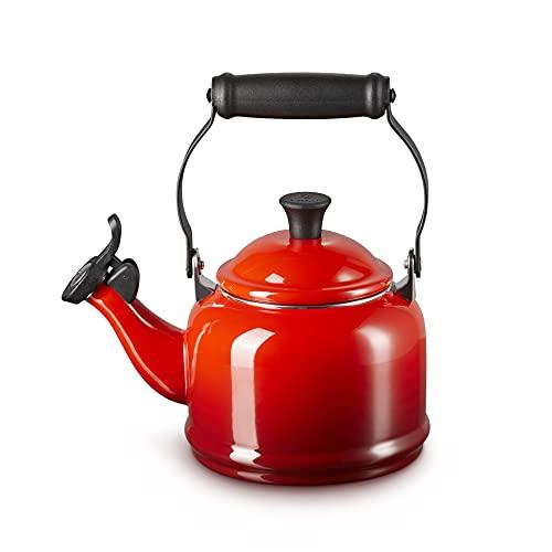 Le Creuset Enamel On Steel Demi Tea Kettle, 1.25 qt., Cerise