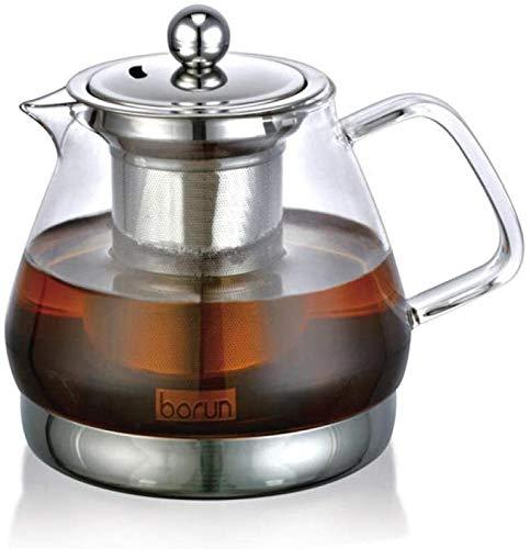 ZQADTU Tetera con colador Juego de té de Vidrio hervidor de Vidrio Resistente al Calor hervir Tetera Olla de cerámica eléctrica Juego de té de Vidrio h1000ml