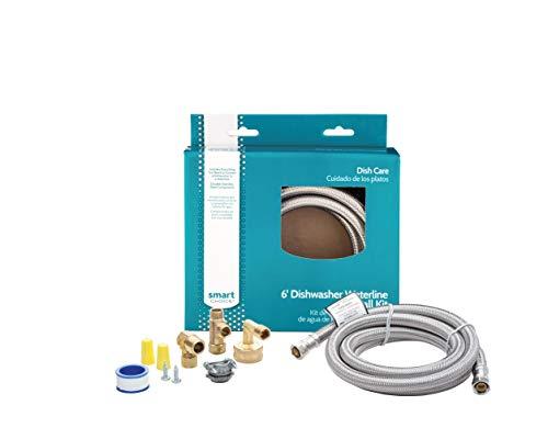 Smart Choice 6-Foot Stainless Steel Dishwasher Installation Kit