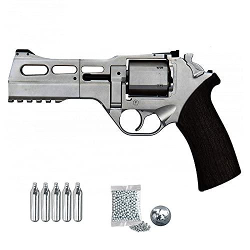 Revólver Chiappa Rhino 50 DS (Nickel)   Pistola de balines (Bolas bb's de Acero y perdigones) y CO2 semiautomática Calibre 4.5mm