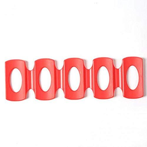 AERVEAL Cerveza Soporte de Botella de Vino Soporte Silicone Rack Can Soporte de Alenamiento Cerveza Cooler Rack Space Saver Organizador, Color,Rojo