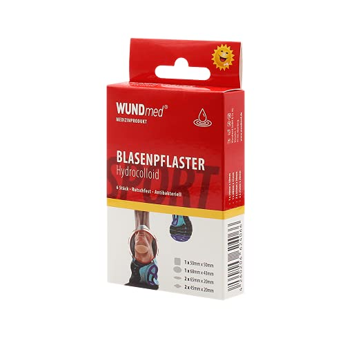Wundmed 10er Vorteilspack Blasenpflaster, 10 Pack a 6 Stk. (60 Stk.)