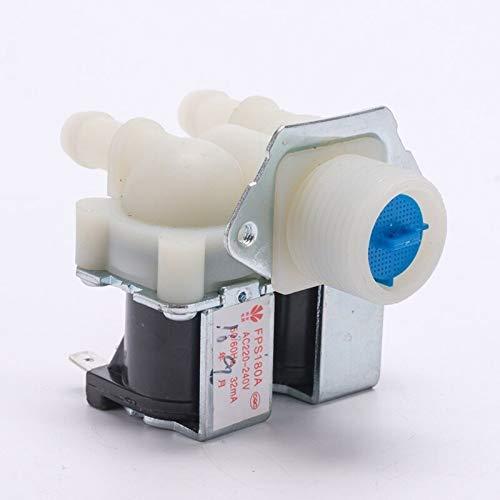 TangMengYun Válvulas de Solenoide FPS180A AC220V General Lavadora Doble Entrada Válvula de Agua Hogar Aparato eléctrico Laver Laver Repuestos Piezas