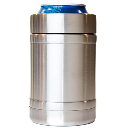 12 oz Steel Can Cooler   Double Wall Vacuum Insulated Thermos Beverage Cooler   Fits All Standard 12 oz Cans and Bottles
