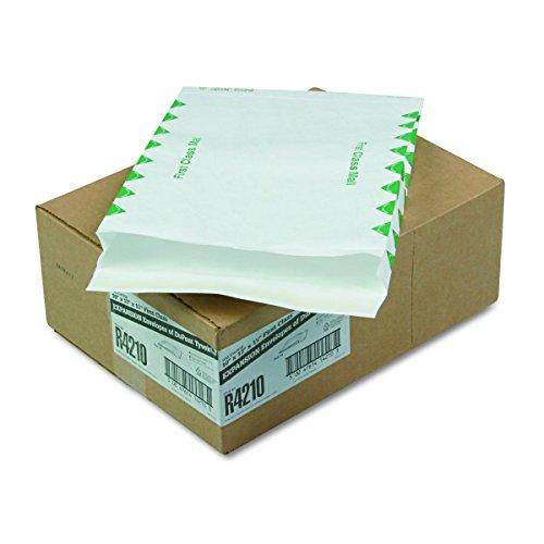 Survivor R4210 Tyvek Expansion Mailer, First Class, 10 x 13 x 1 1/2, White, 18lb (Case of 100)