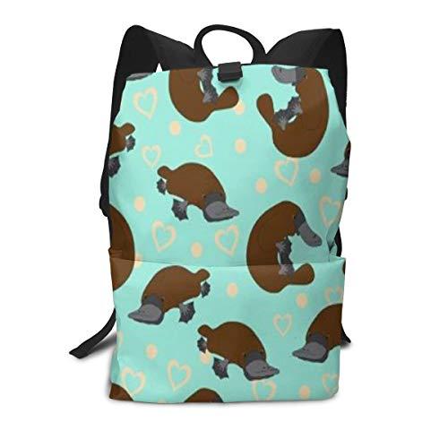 Iop 90p Platypus Duckbill Laptop-Rucksack, Reisetasche, Schultertasche, Polyester, weiß, Einheitsgröße