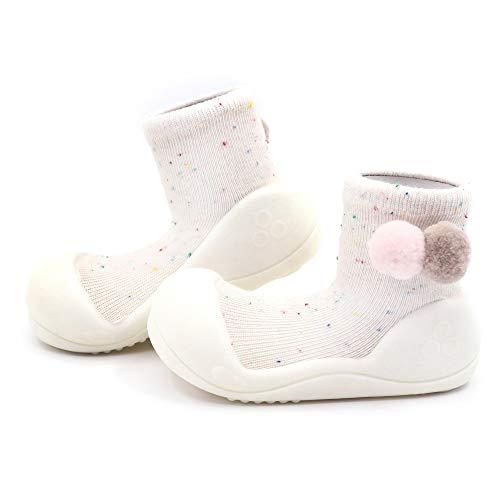 Attipas-Zapatos Primeros Pasos Modelo Shooting Star- Color Crema (Large, Numeric_21_Point_5)