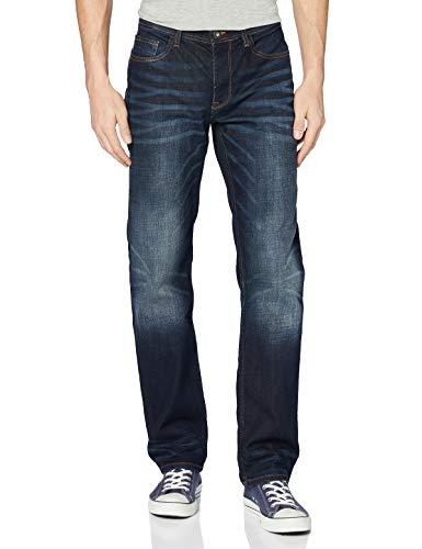 Cross Jeans Herren Antonio Loose Fit Jeans, Blau (Deep Blue 089), W38/L32