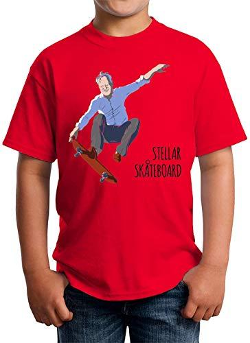 ShutUp Stellar Skateboard T-shirt kinderen unisex 5-13 jaar wit