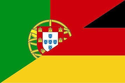 U24 Aufkleber Portugal-Deutschland Flagge Fahne 8 x 5 cm Autoaufkleber Sticker