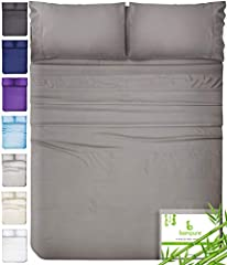 100% PURE ORGANIC BAMBOO - the BAMPURE organic bed sheets are crafted from 100% organic bamboo viscose grown in a chemical-free environment, making them the softest sheets. OEKO-TEX approved, this is the highest quality on the market. ODOR RESISTANT ...