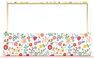 Graphique Doodle Floral Flat Note Card Stationery with Floral Print and Gold Border, 50 Note Cards and Matching Envelopes, 5.625