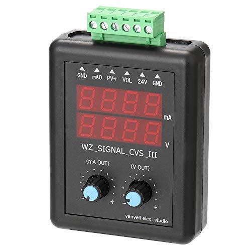 KKmoon Transistor Generador de señal Transmisor de voltaje de corriente 4-20mA 0-10V de 24V Fuente de señal Fuente de corriente constante con pantalla