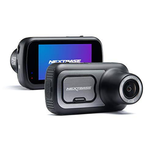 Nextbase 422GW - Series 2 Car Dash Camera - Full 1440p/30fps HD Recording DVR Cam - Front Recording - 140° Wide Viewing Angle - Wi-Fi and Bluetooth - Built-in Alexa - GPS - Black Logo