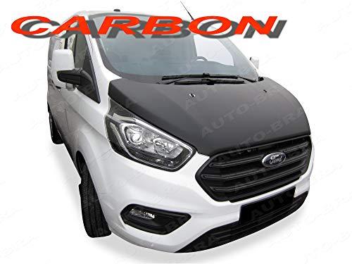 AB3-00385 CARBON OPTIK Vollbra Bonnet BRA für die ganze Motorhaube TRANSIT CUSTOM TOURNEO 2018- Haubenbra Steinschlagschutz Tuning