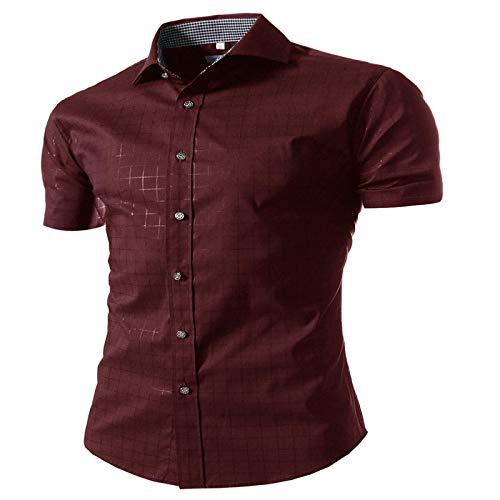 Camisa a Cuadros pequeña para Hombre Camisas de Vestir de a