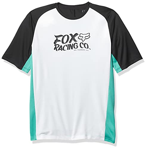 Fox Racing Boys' Youth Defend Short Sleeve Jersey, TEAL, Small