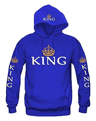 Mine Tom Impresion Corona King & Queen Sudaderas con Capucha Manga Larga Jersey Camisa, Hoodies