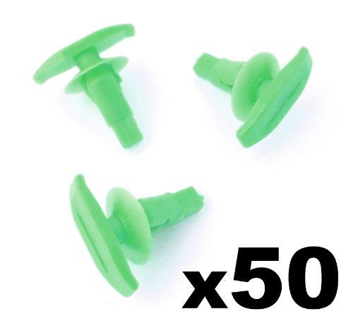 50x Plastik Wetter Streifen & Gummi Türdichtung Clips, Tür Dichtung Clip - Um ein 6mm Loch passen